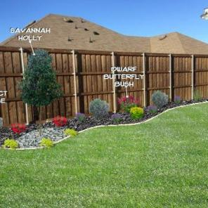Flowerbed Along Fence Design