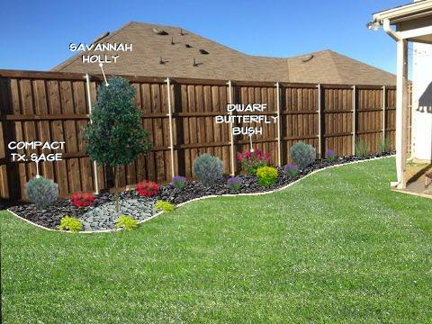 Flowerbed Along Fence Design All Seasons Landscape Design Powered By Mow Pro S