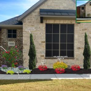 Frontyard Flowerbed Design