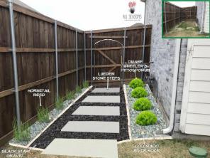 Black Star Gravel Walkway Design