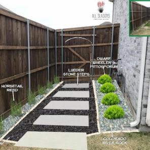 Black Star Gravel Walkway Design