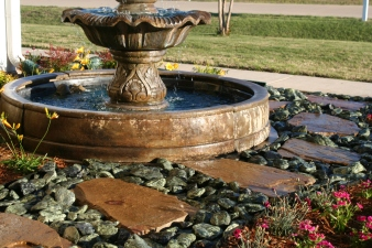 Tiered Fountain Install